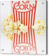 Iconic Striped Popcorn Carton Acrylic Print