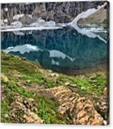 Icy Blue And Lush Green Acrylic Print