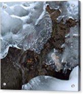 Icy Creek In Pocono Mountains Acrylic Print
