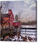 Icy Falls Acrylic Print