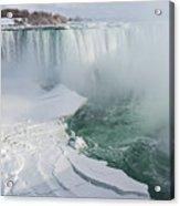Icy Fury - Niagara Falls Spectacular Ice Buildup Acrylic Print