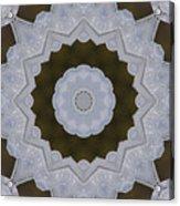 Icy Lace Kaleidoscope Acrylic Print