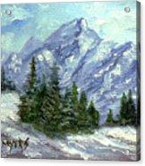 Icy Mountain Acrylic Print