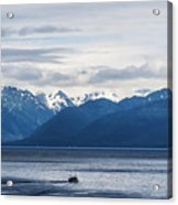 Icy Strait Fishing Acrylic Print
