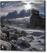 Icy Tundra In Buffalo Acrylic Print