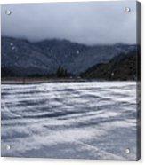 Icy Viewpoint On Silverwood Lake Acrylic Print