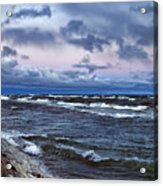 Icy Waters Of Superior Acrylic Print