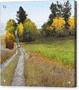 Idaho Backroad Autumn Acrylic Print