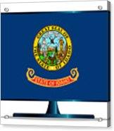 Idaho Flag Tv Acrylic Print