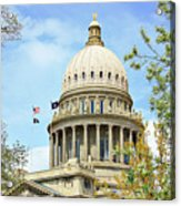 Idaho State Capitol In The Spring Acrylic Print