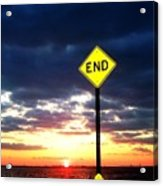 Idoits Guide To The End Of The Day  Acrylic Print