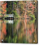 Idyllic Autumn Reflections Acrylic Print