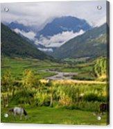 Idyllic Landscape Arunachal Pradesh Acrylic Print