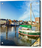 Idyllic North Sea Town Of Husum Acrylic Print