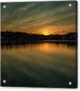 Idyllic Philadelphia Sunset Acrylic Print