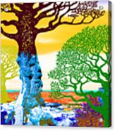 If A Tree Falls In Sicily Color 2 Acrylic Print