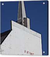 If At First Acrylic Print by Garry Gay