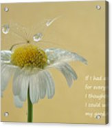 If I Had A Flower Quote Acrylic Print