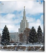 If Temple After Snow Acrylic Print