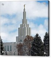If Temple Dusted In Snow Acrylic Print