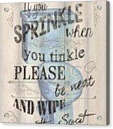 If You Sprinkle Acrylic Print
