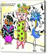 Iggy Poo Sow Miranda And Florella  Decked Out For The Opening Acrylic Print