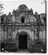 Iglesia San Jose El Viejo - Antigua Guatemala Bnw Acrylic Print