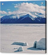 Igloo On Atlin Lake - Bc Acrylic Print