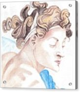 Ignudo Sistine Chappel Michelangelo Acrylic Print