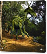Iguanodon In The Jungle Acrylic Print
