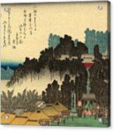 Ikegami No Bansho - Evening Bell At Ikegami Acrylic Print