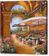 Il Mercato Sotto I Portici Acrylic Print