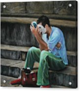Il Mimo - The Mime Florence Italy Acrylic Print