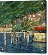 il porto di Bellano Acrylic Print by Guido Borelli
