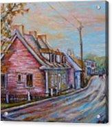 Iles D'orleans Quebec Village Scene Acrylic Print