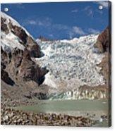 Illampu Glacier Lake Or Laguna Glacial Acrylic Print