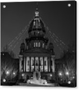 Illinois State Capitol B W Acrylic Print