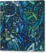 Illuminated Blue Acrylic Print