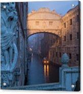 Illuminated Bridge Acrylic Print