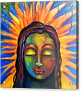 Illuminated By Her Own Radiant Self Acrylic Print
