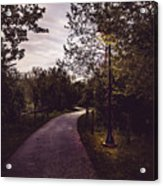 Illuminated Foot Path Acrylic Print