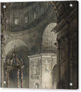 Illumination Of The Cross In St. Peter's On Good Friday, 1787 Acrylic Print