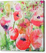 Illusions Of Poppies Acrylic Print