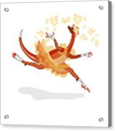 Illustration Of A Ballerina Dancing Acrylic Print