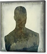 Illustration Of A Human Bust. Silhouette Acrylic Print