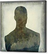 Illustration Of A Human Bust. Silhouette Acrylic Print by Bernard Jaubert