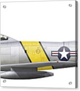 Illustration Of A North American F-86f Acrylic Print