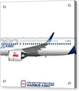 Illustration Of Airbus A320 Neo F-wnew Acrylic Print
