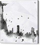 Illustration Of City Skyline - Rio De Janeiro In Chinese Ink Acrylic Print