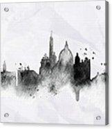 Illustration Of City Skyline - Rome In Chinese Ink Acrylic Print